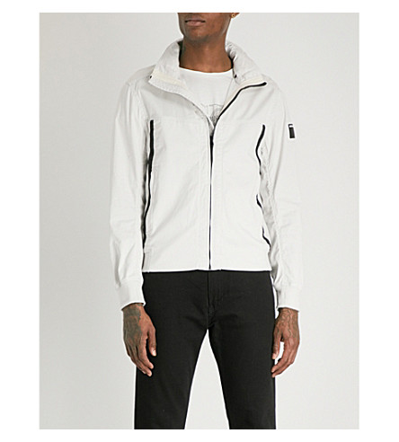 REPLAY Peach funnel-neck stretch-cotton jacket (Off+white