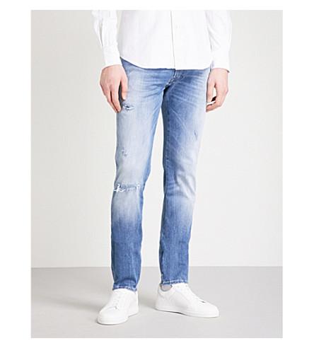 REPLAY Anbass Hyperflex skinny jeans (Mid+blue