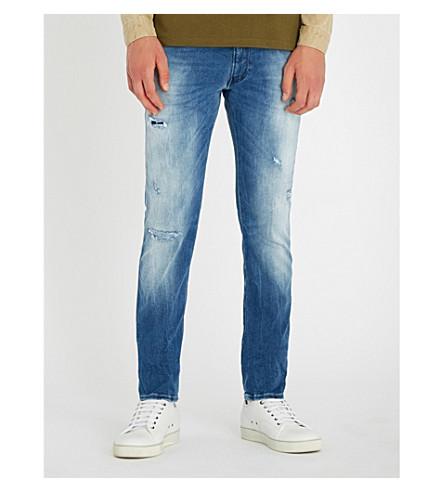 REPLAY Anbass Hyperflex slim-fit skinny jeans (Mid+wash