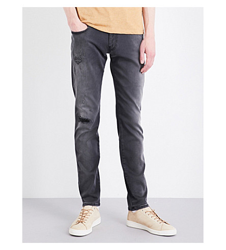 REPLAY Anbass hyperflex slim-fit skinny jeans (Grey