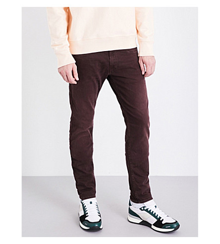 REPLAY Anbass colours slim-fit skinny jeans (Burgundy