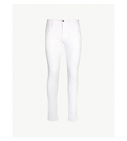 REPLAY Anbass slim-fit skinny jeans (White