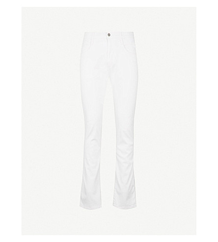 REPLAY Anbass Hyperflex distressed slim-fit skinny jeans (White