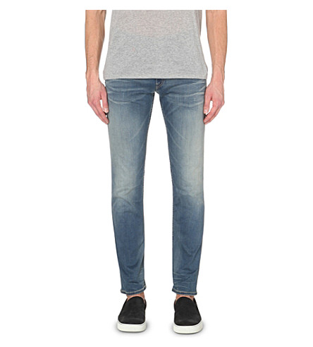 REPLAY Hyperflex slim tapered jeans (Mid+blue