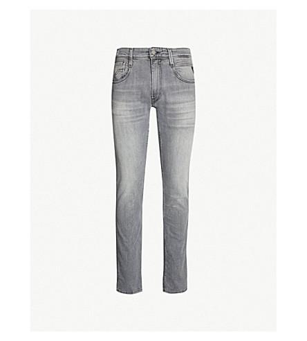 REPLAY Anbass slim-fit Hyperflex skinny jeans (Grey