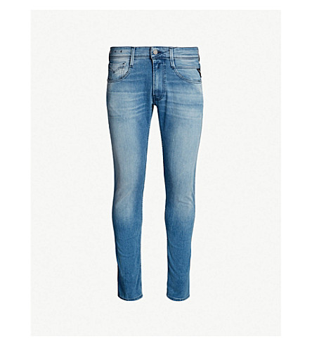 REPLAY Anbass slim-fit skinny jeans (Light wash
