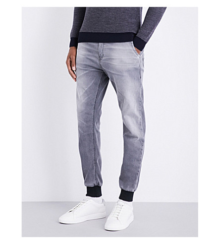 REPLAY Hyperfree skinny denim joggjeans (Grey+washed
