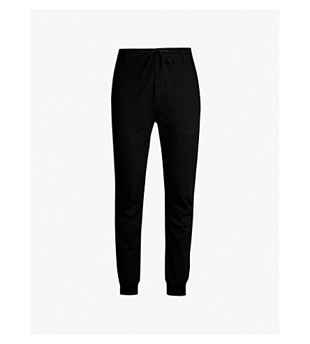 REPLAY Panelled denim jogging bottoms (Coated black