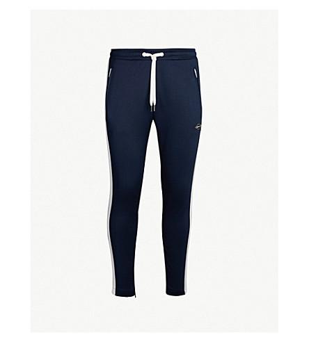 REPLAY Side stripe stretch-jersey jogging bottoms (Blue