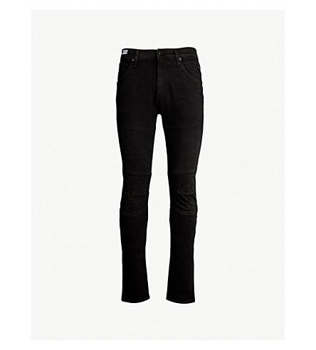 REPLAY Panelled slim-fit skinny jeans (Washed black