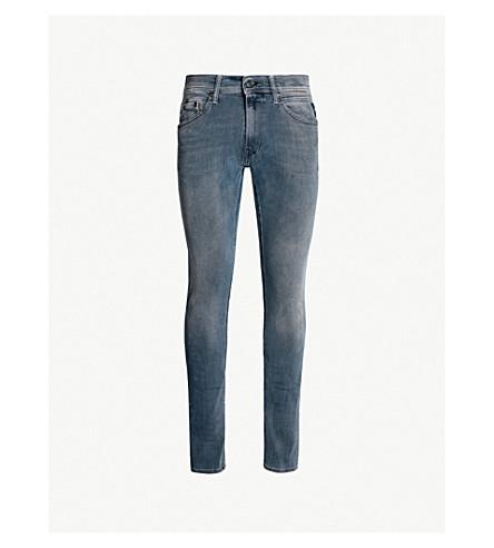 REPLAY Jondrill faded regular-fit straight jeans (Medium blue