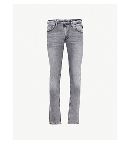 REPLAY Jondrill slim-fit skinny jeans (Washed grey
