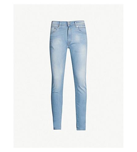 REPLAY Jondrill faded skinny-fit straight jeans (Medium blue