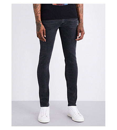 REPLAY Jondrill slim-fit skinny jeans (Faded+black