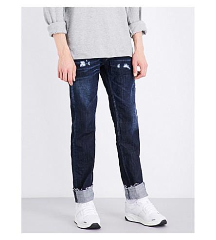 REPLAY Ronas distressed slim-fit skinny jeans (Dark+blue
