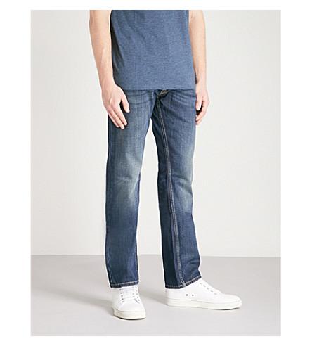 REPLAY Newbill comfort-fit straight jeans (Dark+blue
