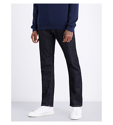 REPLAY Regular-fit straight jeans (Dark+blue