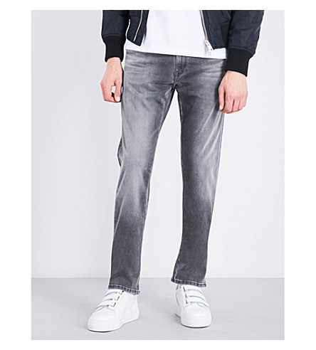 REPLAY Grover Hyperflex slim-fit straight jeans (Grey