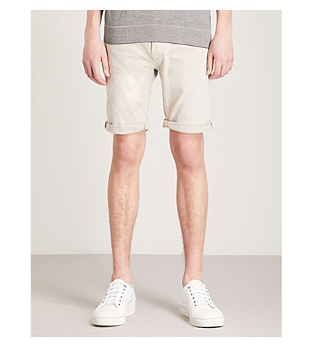 REPLAY RBJ 901 slim-fit stretch-denim shorts (Beige