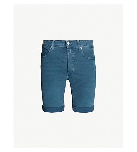 REPLAY RBJ 901 regular-fit stretch-denim shorts (Storm blue