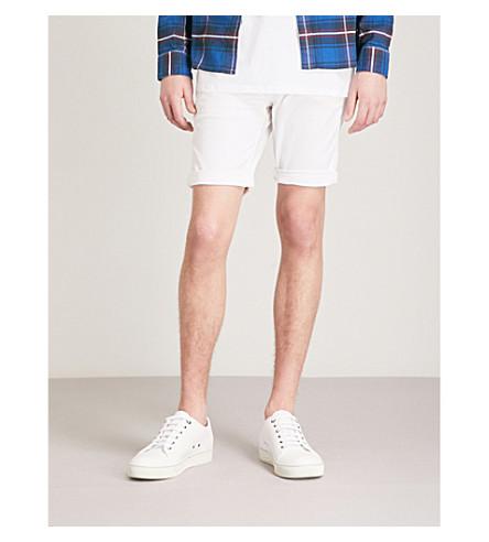 REPLAY Anbass slim-fit stretch-denim shorts (White