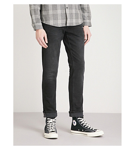 REPLAY Grover slim-fit skinny jeans (Washed+black