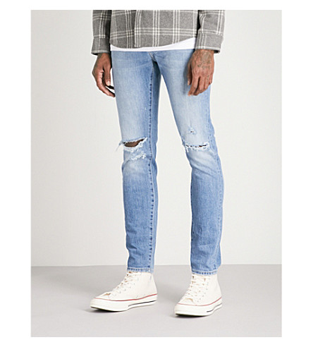 NEUW Iggy distressed slim-fit skinny jeans (Broken+collector