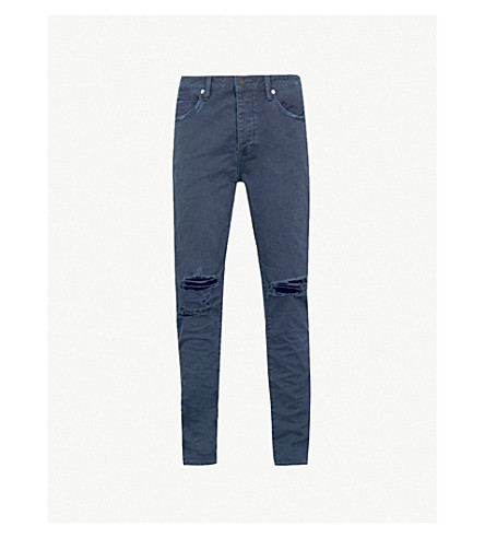 NEUW Ray slim-fit tapered jeans (Busted+navy