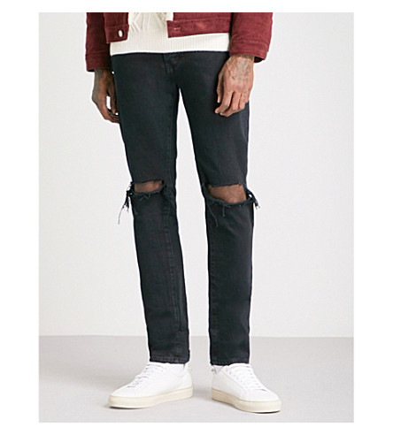 NEUW Lou slim-fit tapered jeans (Revision+black