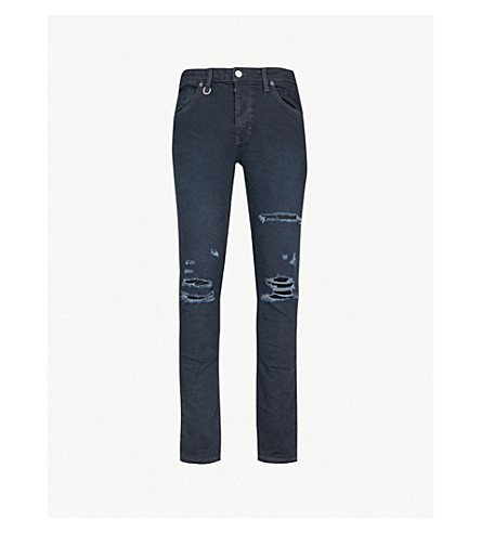 NEUW Iggy Skinny slim-fit jeans (Blue lines broken
