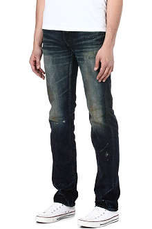 PRPS Rambler dirty dark regular-fit straight jeans