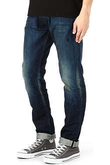 PRPS Fury vintage wash regular-fit tapered jeans
