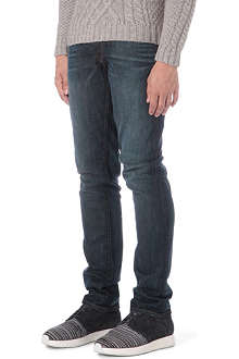 J BRAND Tyler washed oil mark slim-fit tapered jeans