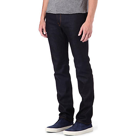 J BRAND Kane Raw slim-fit straight jeans (Indigo
