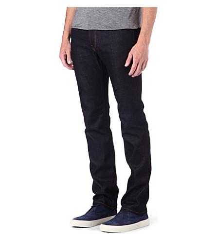 J BRAND Kane Raw slim-fit straight jeans (Indigo