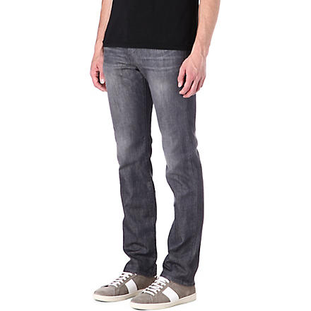 J BRAND Kane slim-fit straight-leg jeans (Grey