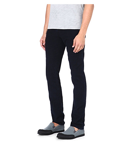 J BRAND Finlay Fulton slim-fit straight jeans (Navy