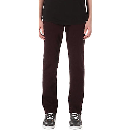 J BRAND Kane slim-fit straight jeans (Bordeux