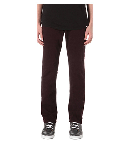 J BRAND Kane slim-fit straight jeans (Bordeux