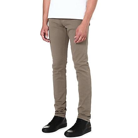 J BRAND Mick overdyed skinny-fit jeans (Tan
