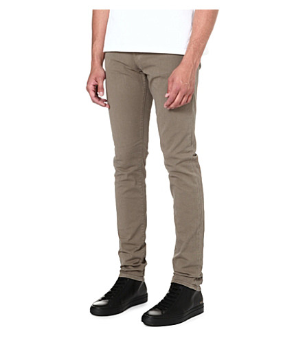J BRAND Mick overdyed skinny-fit jeans (Tan