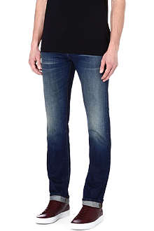 J BRAND Slim-fit washed denim jeans