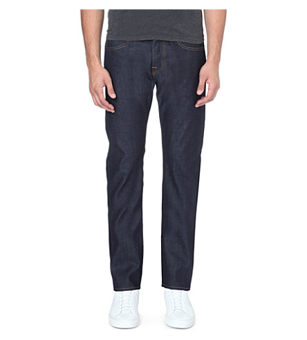 EDWIN ED-55 relaxed-fit tapered jeans (Indigo