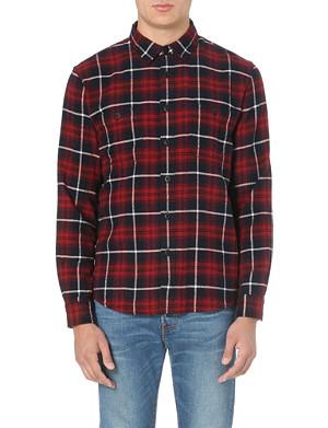 EDWIN Herringbone checked shirt
