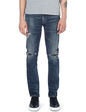 CITIZENS OF HUMANITY Slim-fit Liberty distressed jeans