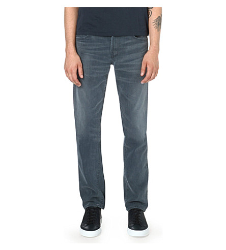 CITIZENS OF HUMANITY Slim-fit straight-cut Bad Lands jeans (Grey+wash