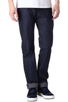 NAKED AND FAMOUS DENIM Indigo regular-fit Selvedge jeans