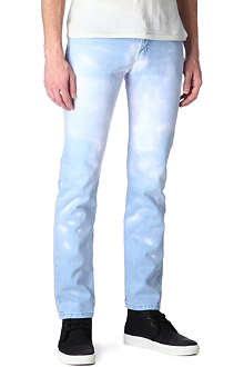 NAKED AND FAMOUS DENIM Thermo-chromic slim-fit jeans