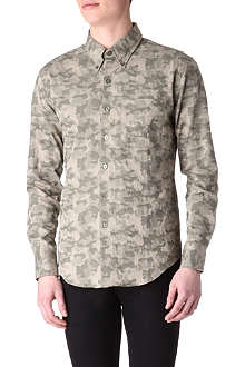 NAKED AND FAMOUS DENIM Camo-print shirt