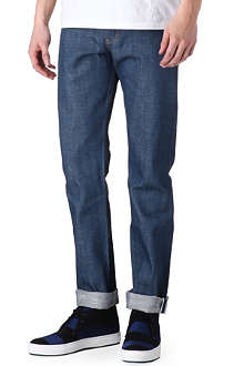 NAKED AND FAMOUS DENIM Royalcast broken-twill tapered jeans